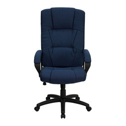 Flash Furniture - Flash Furniture High Back Office Chair in Navy - Flash Furniture - Office Chairs - BT9022BLGG - This reasonably priced office chair will get the job done while performing work related tasks or browsing the internet. The high back design makes it appealing and comfortable while sitting throughout the day. [BT-9022-BL-GG]