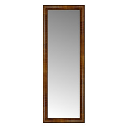 """Posters 2 Prints, LLC - 16"""" x 43"""" Belmont Light Brown Custom Framed Mirror - 16"""" x 43"""" Custom Framed Mirror made by Posters 2 Prints. Standard glass with unrivaled selection of crafted mirror frames.  Protected with category II safety backing to keep glass fragments together should the mirror be accidentally broken.  Safe arrival guaranteed.  Made in the United States of America"""