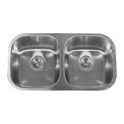 "Miseno - Miseno 32"" Undermount Double Basin Stainless Steel Kitchen Sink 50/50 Split 18G - Included Free with Your Miseno Sink:"