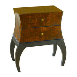 Hammary - Hammary T73371-00 Hidden Treasures Two-Drawer Chest - Chest belongs to Hidden Treasures collection by Hammary the Hidden Treasures collection is a fabulous assortment of one-of-a-kind accent pieces inspired by the greatest furniture designs from around the world. Each selection is a true treasure - rich in old world icons and traditions. All the pieces in this collection are crafted with attention to every detail. From brass nailhead trim and exquisite hand-painting to elegant shaping and decorative trim, every item is a unique work of art. A wide variety of materials is used to create the perfect look and finest quality - from exotic woods, leather and stone to raffia and glass. The huge selection of finishes, hardware, exceptional carvings and other final touches offer unsurpassed versatility for any room in the home. Hidden treasures includes cocktail tables, occasional and accent pieces, trunks, chests, consoles, wine racks, desks, entertainment units and interesting storage pieces. Place one in a comfortable reading nook... In the family room for flair and variety... In the foyer for a welcome look... In a bedroom for cozy style... Or in the office for function and versatility. The pieces in this collection mix beautifully with any decorating style and will easily become the focal point in any setting.