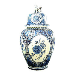 Royal Sphinx Boch - Large Blue & White Delft Vase Royal Sphinx - Product Details