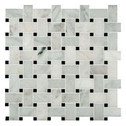 """Marbleville - MSI Arabescato Carrara Basket Weave Pattern Honed  Marble Mosaic  in 12"""" x 12"""", - Premium Grade Arabescato Carrara Basket Weave Pattern Honed Mesh-Mounted Marble Mosaic is a splendid Tile to add to your decor. Its aesthetically pleasing look can add great value to the any ambience. This Mosaic Tile is constructed from durable, selected natural stone Marble material. The tile is manufactured to a high standard, each tile is hand selected to ensure quality. It is perfect for any interior/exterior projects such as kitchen backsplash, bathroom flooring, shower surround, countertop, dining room, entryway, corridor, balcony, spa, pool, fountain, etc."""