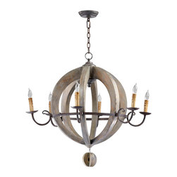 Cyan Design - Cyan Design Lighting 04703 Barrel Chandelier - Cyan Design 04703 Barrel Chandelier