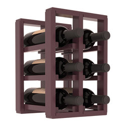 Wine Racks America® - 6 Bottle Counter Top/Pantry Wine Rack in Pine, Burgundy Stain + Satin Finish - These counter top wine racks are ideal for any pantry or kitchen setting.  These wine racks are also great for maximizing odd-sized/unused storage space.  They are available in furniture grade Ponderosa Pine, or Premium Redwood along with optional 6 stains and satin finish.  With 1-10 columns available, these racks will accommodate most any space!!