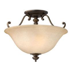 Hinkley Lighting - Hinkley Lighting 4591RY Dunhill 2 Light Semi-Flush Mounts in Royal Bronze - 2Lt Semi Foyer