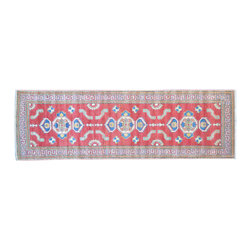 1800-Get-A-Rug - Kazak Runner Hand Knotted Rug Tribal Design Sh11620 - About Tribal & Geometric