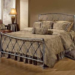Hillsdale Furniture Silverton Sleigh Metal Bed W Satin