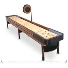 Hampton 16 Foot Honey Black Finish shuffleboard | McClure Tables