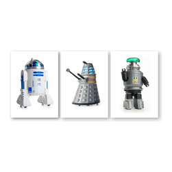 Museum of Robots - Set of 3 Robot Prints: The Stars - Captured by photographer Hunter Freeman, the personality of the vintage toy robots really shines through in these high-quality archival prints. They span a golden age of vintage toy design and manufacturing. This series features The Stars - famous robots of the large-and-small screen.