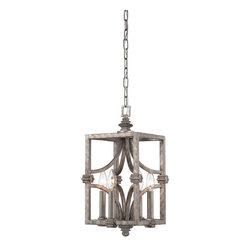 Raymond Waites - Raymond Waites 3-4302-4-242 Structure Modern / Contemporary Foyer Light - Structure is a bold introduction by Raymond Waites that boasts an Aged Steel finish and Metal Mesh shades. This distinctive collection has an edgy architectural allure.