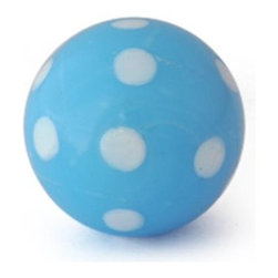 "Knobco - Polka Dotted Glass Knob, Turquoise Knob with White Polka Dots - Turquoise Knob with White Polka Dots glass knob. Unique glass knobs for your kitchen cabinets. 1"" in   diameter. Includes screws for installation."