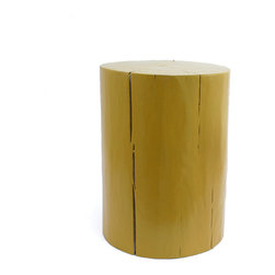 """Pfeifer Studio - Eco-Friendly Stool Table, Marigold Yellow, 12""""Dia x 22""""H - This stool, particularly in the cool dove-gray color, manages to marry rustic and minimalist style to great effect. Why not use a trio of different sizes as eye-catching side tables in your living room?"""