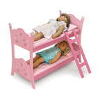 Badger Basket - Blossoms & Butterflies Doll Bunk Beds With Ladder - *With whimsical flowers and playful butterflies, our new Blossoms and Butterflies Collection is as fun and as refreshing as Springtime!