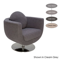 Nuevo Living - Simone Lounge Chair, Light Grey - Pick from your favorite shade of gray and kick back in this ultra chic lounge chair. The retro shape makes a stylish statement while keeping comfort a top priority. It's the perfect place to sip a cocktail or browse your favorite magazine.