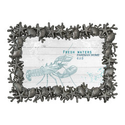 Lightaccents - Home Accents  Picture Frame / Photo Frame 4 x 6 Inches (Antique Silver) - Part of the Fresh Waters Photo Frame Collection
