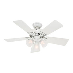 """Hunter Fan - Hunter Fan Southern Breeze - 42"""" - Hunter combines 19th century craftsmanship with 21st century design and technology to create ceiling Southern Breeze, a fan of unmatched quality, style, and whisper-quiet performance."""