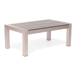 Zuo Modern - Zuo Cosmopolitan Coffee Table in Brushed Aluminum - Cosmopolitan Coffee Table in Brushed Aluminum by Zuo Modern Made from 100% aluminum frame with a teak top, the Metropolitan coffee table will create the perfect gathering place with friends Coffee Table (1)