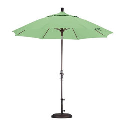 California Umbrella - California Umbrella Patio Umbrellas 9 ft. Fiberglass Collar Tilt Patio Umbrella - Shop for Outdoor Patio Furniture at The Home Depot. Designed for convenience value and performance California Umbrella products bring the full weight of our design experience to your table. California Umbrella pioneered and developed the original and revolutionary Collar Tilt feature to tilt your umbrella to any degree you wish while you enjoy the afternoon and evening outside. We still boast the widest tilt degree in the market allowing you to stay outside longer with your family and friends. Pacifica NEW by California Umbrella is a solution dyed polyester fabric perfected for use with our umbrellas. Our proprietary selection offers tremendous possibilities for color varieties and performance shade fabric. Color: Bronze.