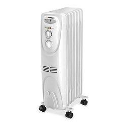 Lorell - Lorell White Radiator Heater - Lorell Radiator Heater,Oil Filled,Electric,White