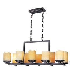 Maxim Lighting - Maxim Lighting 21149SCRE Luminous Rustic Ebony 10 Light Chandelier - 10 Bulbs, Bulb Type: 60 Watt Incandescent