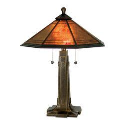 Dale Tiffany - Dale Tiffany TT80172 Camillo 2 Light Table Lamps in Antique Golden Sand - Camillo Table Lamp