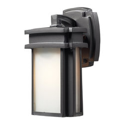 ELK - ELK 42346/1 Outdoor Sconce - Simplicity Of Craft And Form Gives The Sedona Collection A Very Attractive Look Through Its Minimalist Approach.  Inspired By The Architecture And Casual Lifestyle Of The Desert Southwest, This Collection Features Clean Lines With Recessed Edges, Caramel