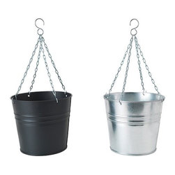 Sarah Fager - Höstö Hanging Planter - Easy and inexpensive urban-inspired planter options from Ikea.