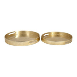 """IMAX CORPORATION - Elaine Trays - Set of 2 - Elaine Trays - Set of 2.  Set of 2 trays measuring 2""""H x 15.5""""W x 15.5""""L and 2.25""""H x 17.5""""W x 17.5""""L each. Find home furnishings, decor, and accessories from Posh Urban Furnishings. Beautiful, stylish furniture and decor that will brighten your home instantly. Shop modern, traditional, vintage, and world designs."""