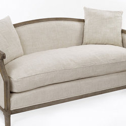 Gallery Linen Sofa With Pillows