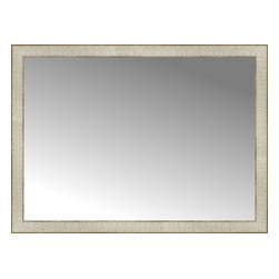 """Posters 2 Prints, LLC - 38"""" x 28"""" Libretto Antique Silver Custom Framed Mirror - 38"""" x 28"""" Custom Framed Mirror made by Posters 2 Prints. Standard glass with unrivaled selection of crafted mirror frames.  Protected with category II safety backing to keep glass fragments together should the mirror be accidentally broken.  Safe arrival guaranteed.  Made in the United States of America"""