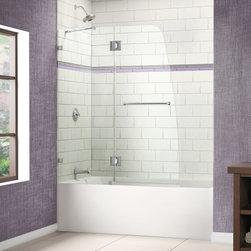 "DreamLine - DreamLine SHDR-3348588-01 AquaLux Tub Door - DreamLine AquaLux 48"" Frameless Hinged Tub Door, Clear 5/16"" Glass Door, Chrome Finish"