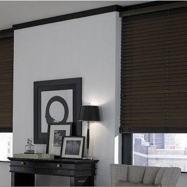 Wood Blinds- 3 Day Blidns- Living Room - Offering a range of dark wood blinds to light wood blinds and everything in between 3 Day Blinds has an assortment of custom wood blind options. Wood blinds are a desired solution if you are looking for arched shaped window treatments because they are custom made to fit any window.