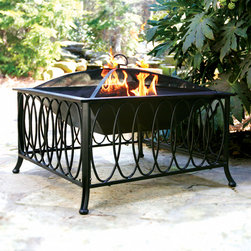 Olympus Fire Pit - For something a bit different, the Olympus fire pit is sure to make a statement on your patio or deck. Create an intimate environment your guests are sure to enjoy. This fire pits elegant appearance and a versatile design mix quality construction with a designer's touch and make for an impressive and lasting addition to any outdoor setting. This long lasting stainless bowl rests on a sturdy steel frame with an elegant powder-coated finish.