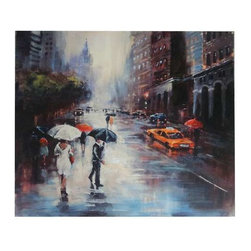 Rainy Day Wall Art - Rainy Day 47 x 47 x 1.5""