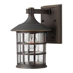 Hinkley Lighting - Freeport Outdoor Wall Lantern - Freeport features a classic design in cast aluminum construction. Back plate dimensions: 4.5 in. W x 6 in. H. Oil Rubbed Bronze finish with hand-rubbed accents complemented by clear seedy glass.