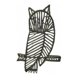 Zeckos - White Washed Wooden Stick Owl Wall Hanging - Add a natural element to your home decor with this owl wall hanging It is made of sticks and twigs, then washed with blue and white for a charming effect. It measures 27 inches tall, 17 1/4 inches wide, 1 inch deep and easily mounts to the wall with a single nail or screw. This piece looks lovely in the home, or on a porch or patio, and is sure to be admired.