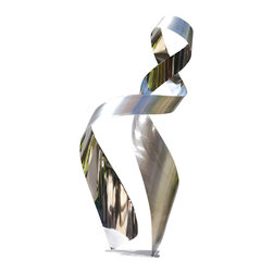 Jon Koehler Sculpture - Ethos - Kinetic Stainless Steel Sculpture - 43 x 19 x 19 inches