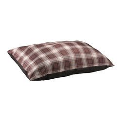 Brinkmann - Brinkmann Wag Bag Pet Bed - Brown - WPZ2736-960.1 - Shop for Beds Covers and Fill from Hayneedle.com! With its handsome brown plaid print and comfy 100% recycled fiber fill the Brinkmann Wag Bag Pet Bed - Brown is a perfect choice for your pup. This bed is machine washable and stylish.
