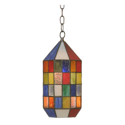 "Meyda Lighting - Meyda Lighting 6"" W Meyer Panel Lantern Mini Pendant - -Height: 19""- 123"""