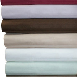 "Bed In A Bag - 16"" Deep Pocket - 1200TC Striped Egyptian Cotton Bed Sheet Sets - Come Experience The Finest Egyptian Cotton Sheets! We are one of the only manufactures who use a brand new, advanced weaving technology, which increases the sheets durability, extends the life, and creates a softness like no other!"