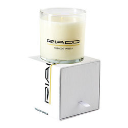 Riado - 12 Oz. Soy Blend Jar Candle, Box, Tobacco Vanilla - Our Jar Candles are hand poured using only 100% soy blend wax and lead free wicks. These candles are highly scented, smokeless, and clean burning. The scent will quickly fill your home with a lingering pleasant not overpowering fragrance.