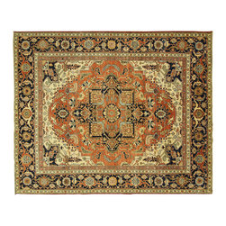 Manhattan Rugs - New Super Fine Chobi Heriz Serapi 8'x10' Pishawar Hand Knotted Wool Rug - MC120 - This is a true hand knotted oriental rug. it is not hand tufted with backing, not hooked or machine made. our entire inventory is made of hand knotted rugs. (all we do is hand knotted)