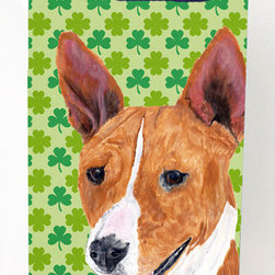 Caroline's Treasures - Basenji Shamrock Portrait Michelob Ultra Koozies for slim cans - Basenji St. Patrick's Day Shamrock Portrait Michelob Ultra Koozies for slim cans SC9307MUK Fits 12 oz. slim cans for Michelob Ultra, Starbucks Refreshers, Heineken Light, Bud Lite Lime 12 oz., Dry Soda, Coors, Resin, Vitaminwater Energy, and Perrier Cans. Great collapsible koozie. Great to keep track of your beverage and add a bit of flair to a gathering. These are in full color artwork and washable in the washing machine. Design will not come off.