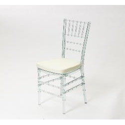 Set of Four Acrylic Ballroom Chairs -