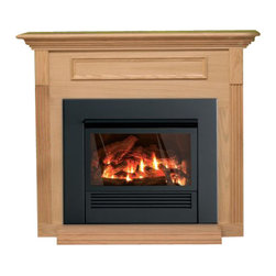 Empire Comfort - Mantis Fireplace Package - Natural Gas - The Mantis stands alone as the most efficient fireplace you can buy. The concealed three-stage heat exchanger captures more than 90 percent of the heat energy from the burner and directs this warm air into your home - not up the flue. With so much of its heat extracted, the exhaust can be vented outdoors in conventional PVC piping - saving money, labor, and space on installation compared to traditional direct-vent systems. The sophisticated control system monitors every critical aspect of the Mantis's operation to maximize efficiency, comfort, and safety. For all its advanced technology, the system is amazingly easy to operate, with just two on/off buttons for the two burners you can set the temperature to low (front only), medium (rear only) or high (both burners).