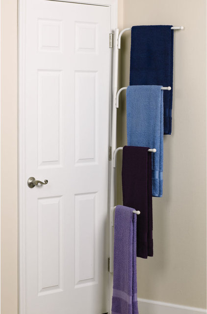 modern bathroom storage Clutterbuster™ Family Towel Bar/White