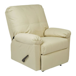 Office Star - Office Star Kensington Recliner in Cream - Office Star - Recliners - KNS54CM - OSP Designs Kensington Recliner (Cream). Relax in the Kensington recliner and drop all of your stress away.