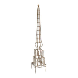 iMax - iMax William Garden Trellis X-54701 - The William Garden Trellis will give your climbing plants a sturdy iron form while complimenting your decor with its classic design.