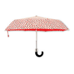 Kate Spade - kate spade Travel Umbrella - Rose Pattern - Instantly brighten any day gloomy day with our kate spade new york Rose Umbrella. The rose pattern adds a signature flair to this compact umbrella that easily stores away for another rainy day.