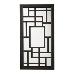 Holly & Martin - Scarlett Wall-Mount Jewelry Mirror, Black - The elaborate, linear design of this modern jewelry mirror is only topped by the abundant storage it provides. This wall mount mirror offers an assortment of storage options in a once wasted space and is the perfect solution to keep you organized.